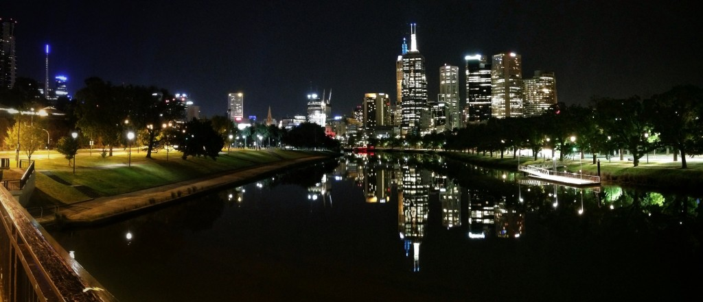 NightCap App night shot of Melbourne